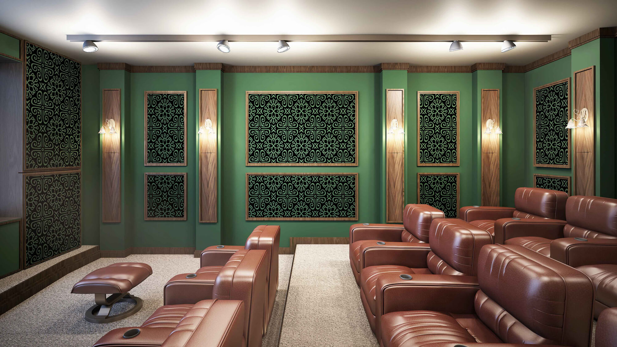 طرح اتاق های سینما