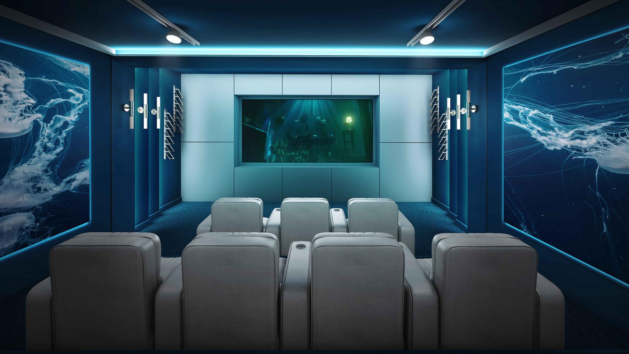طرح اتاق های سینما خانگی