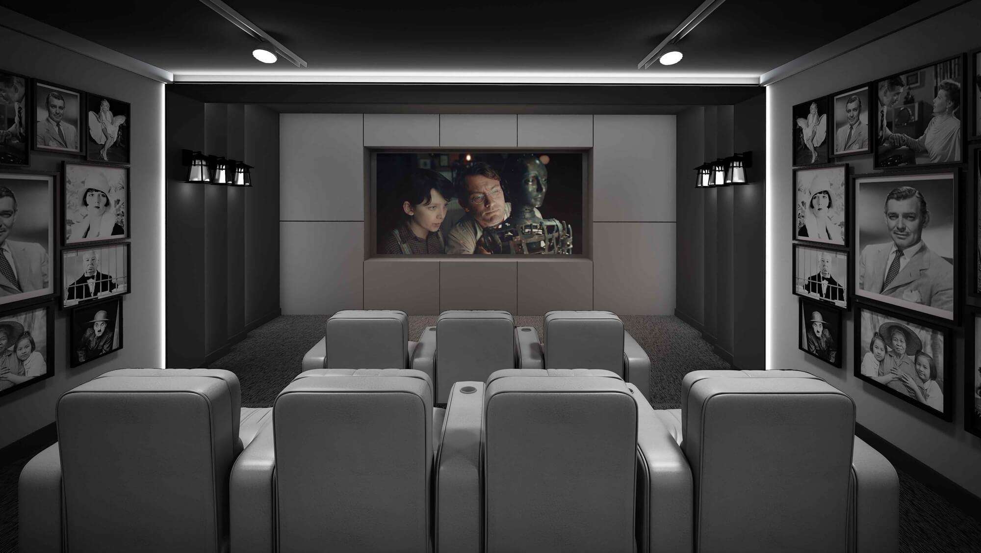 طرح اتاق سینمای خانگی