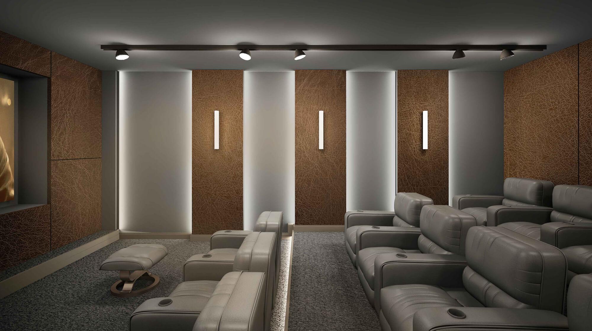انواع اتاق های سینما خانگی