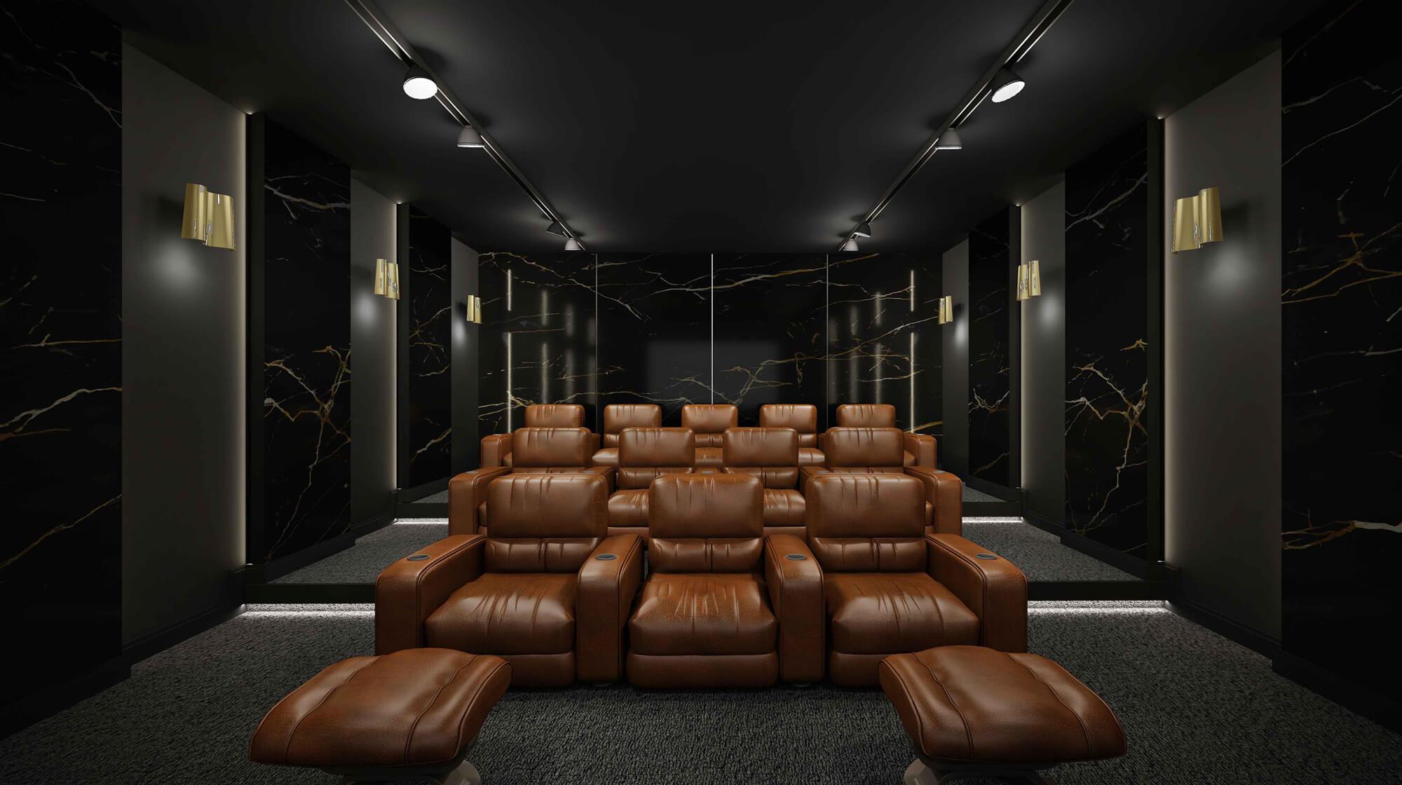 انواع اتاق های سینما خصوصی