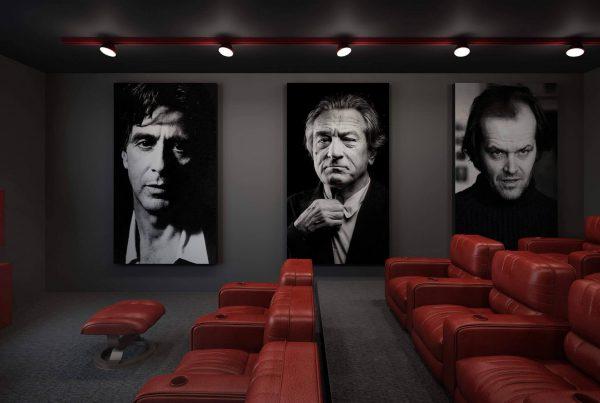 طرح افسانه برای دکور سینمای خانگی