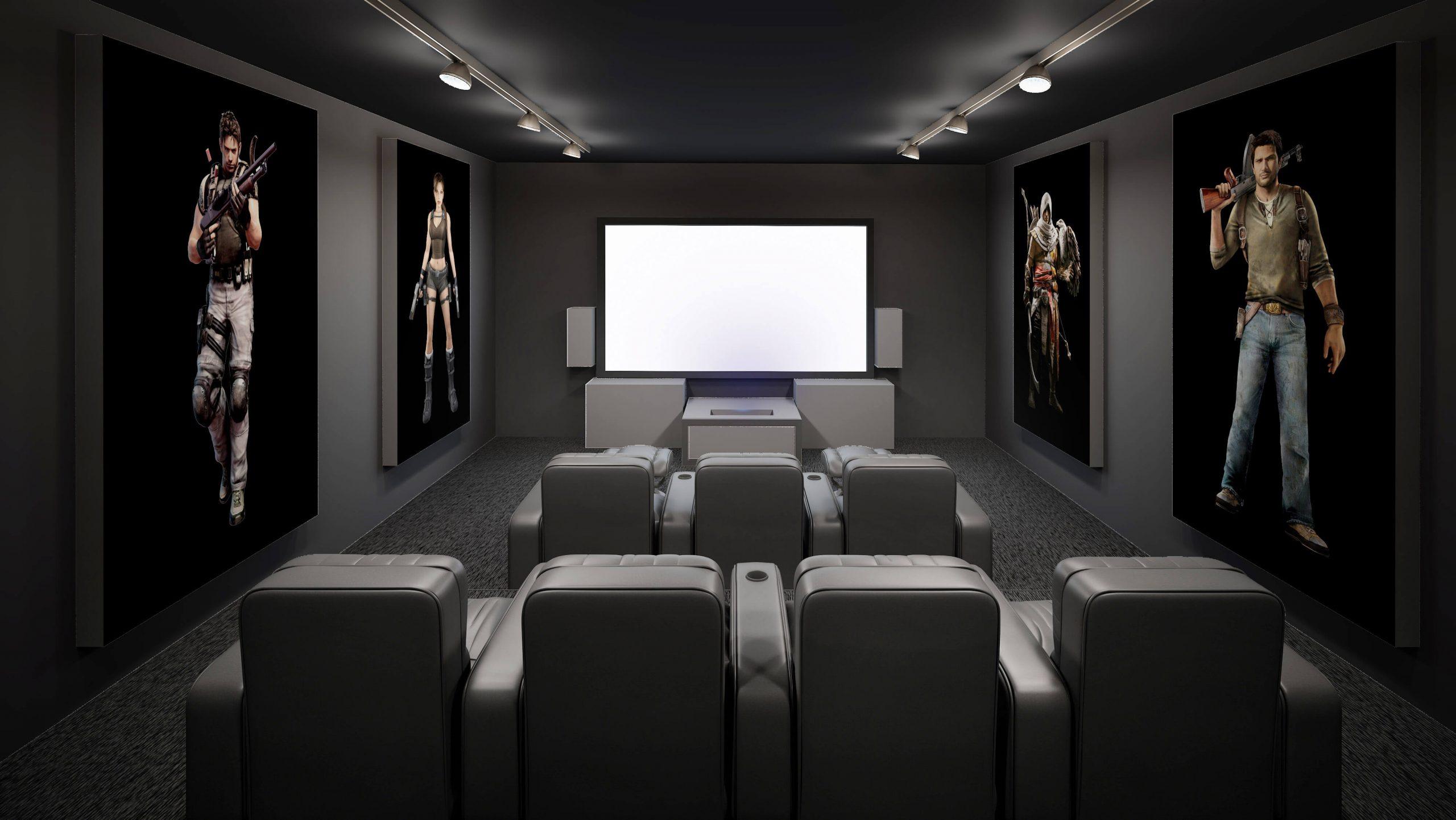 انواع طرح دکور اتاق های سینما خصوصی