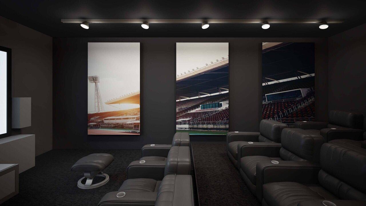 طرح گل اتاق سینمای خصوصی